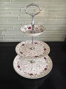 Vintage/antique 3 tiered cake stand, by Aynsley & Co