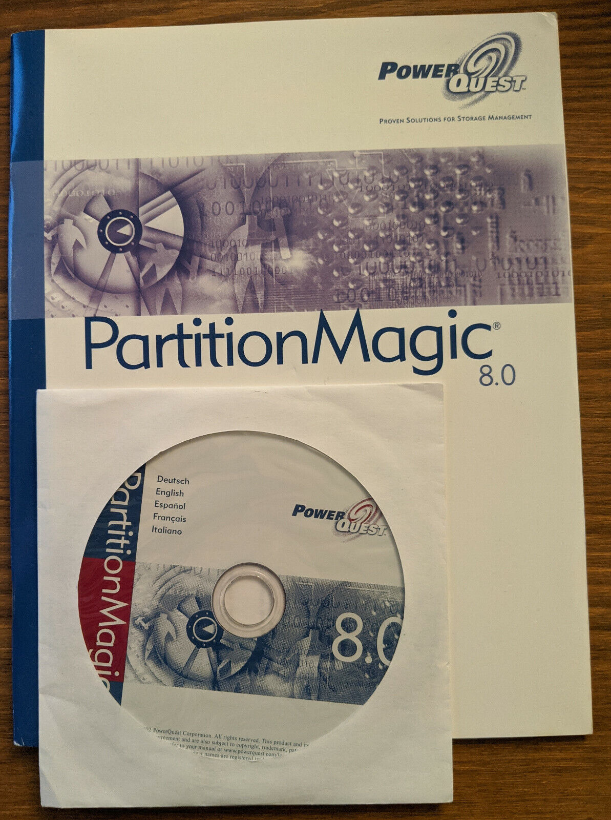 Partition Magic 8.0 - Original CD, User Guide and Serial Number