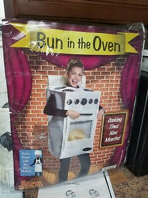The Bun Maker Costume (Bun in the Oven Costume Funny Adult Maternity Halloween Costume Bun Maker)