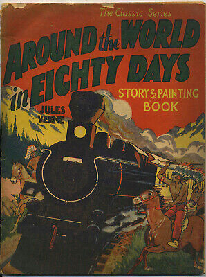The Classic Series Around the World in Eighty Days story and painting