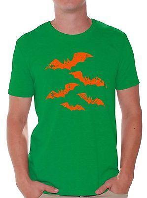Shirts For Halloween (Halloween T-Shirt Orange Bats Shirts for)