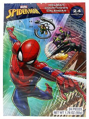 Marvel Spiderman Milk Chocolate Christmas Advent Countdown Calendar, 1.76 oz