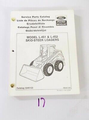 New Holland L451 L452 Skid Steer Loaders Parts Catalog 5045123 591