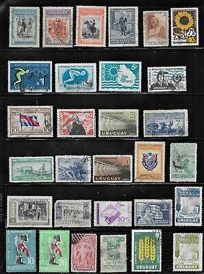 HICK GIRL- BEAUTIFUL USED URUGUAY STAMPS     VARIOUS ISSUES        T126