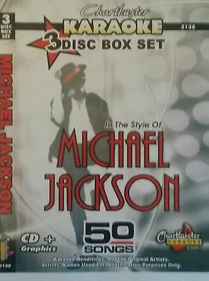 CHARTBUSTER KARAOKE CDG  MICHAEL JACKSON (5130)  3 DISC BOX SET  50 TRACKS   NEW