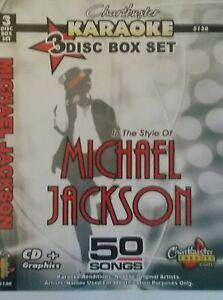 Chartbuster-Karaoke-CDG-Michael-Jackson-5130-3-Disco-Box-Set-50-pistas-Nuevo