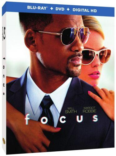 Focus (Blu-ray + DVD + Digital) crime drama w/ Will Smith, Margot Robbie, 2015