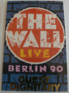 ROGER-WATERS-Pink-Floyd-Laminated-Tour-Pass-THE-WALL-Berlin-1990-Gold-Foil