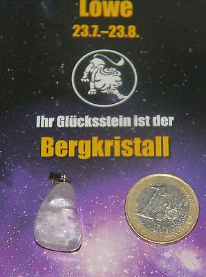 Edelstein Anhänger Löwe + Sternzeichen Karte Tierkreiszeichen Horoskop Stein