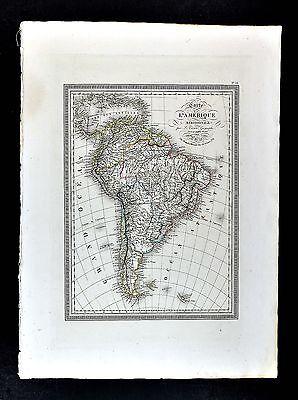 1825 Vivien St. Martin Map - South America Brazil Argentina Peru Patagonia Chile