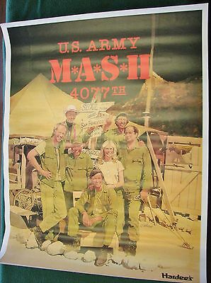 "Vintage 1983 M*A*S*H 4077th Final Season Hardee's Poster 19"" x 24"" Perfect"