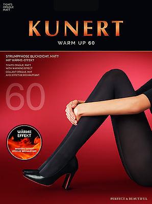 KUNERT Warm up 60den Strumpfhose, blickdichte Strümpfe für warme Füße & Beine