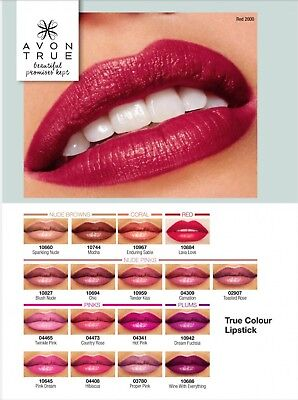 Avon True Colour Lipstick - Assorted Colours - NEW sealed lipstick