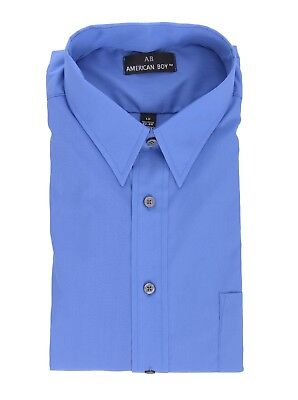 Mens AB Regular Fit Blue Cotton Blend Long Sleeve Dress Shirt 19.5 36/37 3XL for sale  Shipping to India