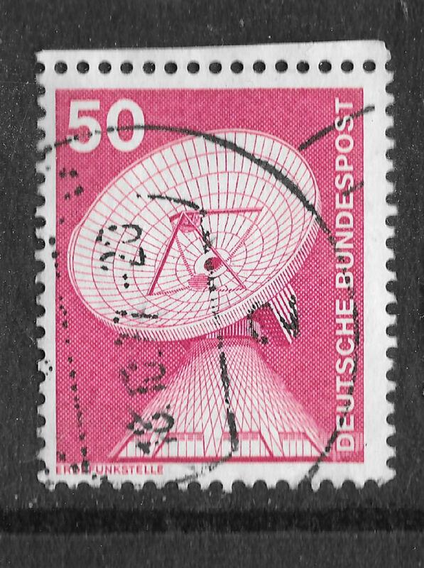 Germany Commemorative Stamp - Erdefunkstelle 50 red  1980 - see scan
