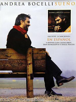 Andrea Bocelli 2000 Sueno Original Promo Poster