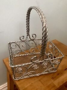 Wire and bead Decorative Basket