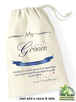 Groom Gift Personalised Printed Wedding Day Husband To Be Gift from Bride Bag