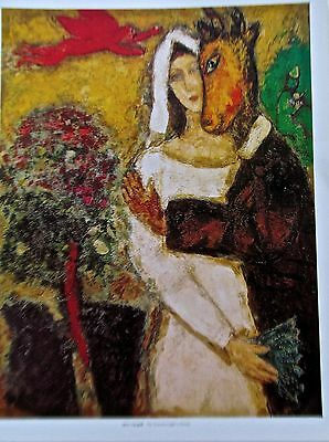 Marc Chagall THE SUMMERSNIGHT'S DREAM  Poster Mule with Bride 14x11