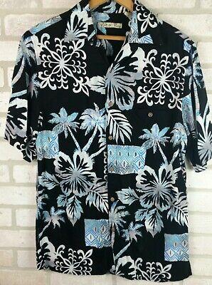 Rayon Hawaiian Shirt Wild Hawaian Batik Bay Bright Men's Size S Button Front ](Hawaian Shirts)