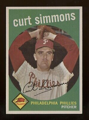 1959 Topps #382 Simmons in ExMt-NrMt Condition