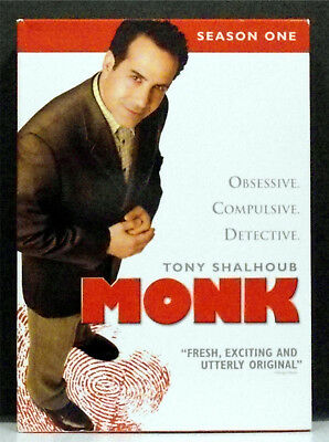 MONK Complete First Season DVD 4 disc set Tony Shaloub Ted Levine Spec.Features