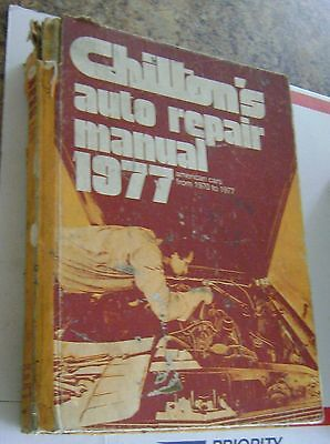 Vintage Chilton's Auto Repair Manual 1977 American Cars 1970-1977