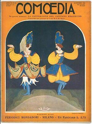 COMOEDIA RIVISTA TEATRO NUMERO 19 1924 SHAW LA CONVERSIONE DEL CAPITANO BRASSUND