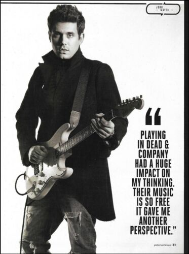 John Mayer 2017 Fender Stratocaster guitar 8 x 11 b/w pin-up photo print