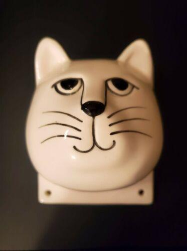 Vintage Ceramic Cat head Wall Art