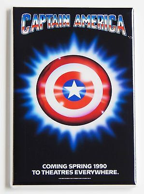 Captain America (1990) FRIDGE MAGNET (2.5 x 3.5 inches) movie poster - 1990 Captain America Movie