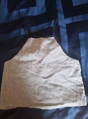 Blue Zara Crop Top Size Small