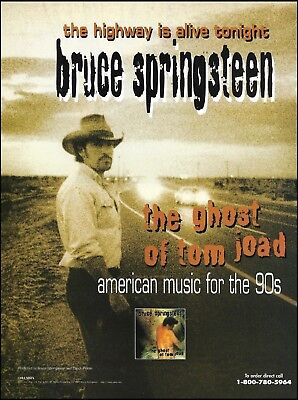 Bruce Springsteen 1995 The Ghost of Tom Joad ad 8 x 11 advertisement print