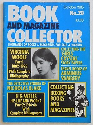 BOOK & MAGAZINE COLLECTOR #20 - 10/1985 - H.G.Wells, Virginia Woolf