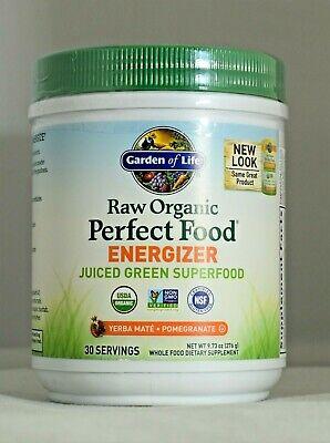 Raw Organic Perfect Food Energizer 9.73oz Garden Of Life Green Super Food Juiced Organic Pure Life