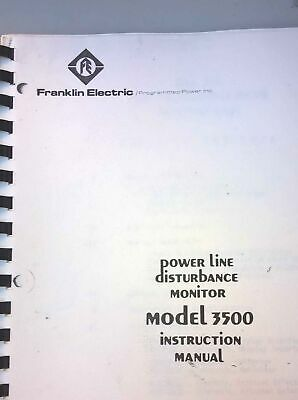 Franklin Electric Model 3500 Power Line Disturbance Monitor Instruction Manual