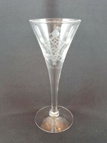 Cambridge Glass Cordial pattern 7966 Crystal Engraved 5 Inch. 6 available