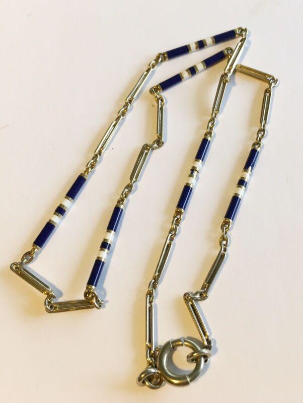 """Antique Art Deco 14k Enamel Chain 13"""""""