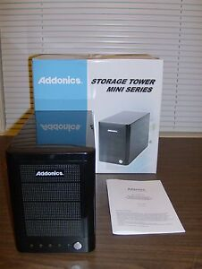 Addonics Mini 4-Bay Storage Tower w/ eSATA USB 3.0 RAID 0 1 5 3 Port Multiplier
