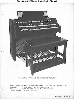 - Series Organ Service Manual on