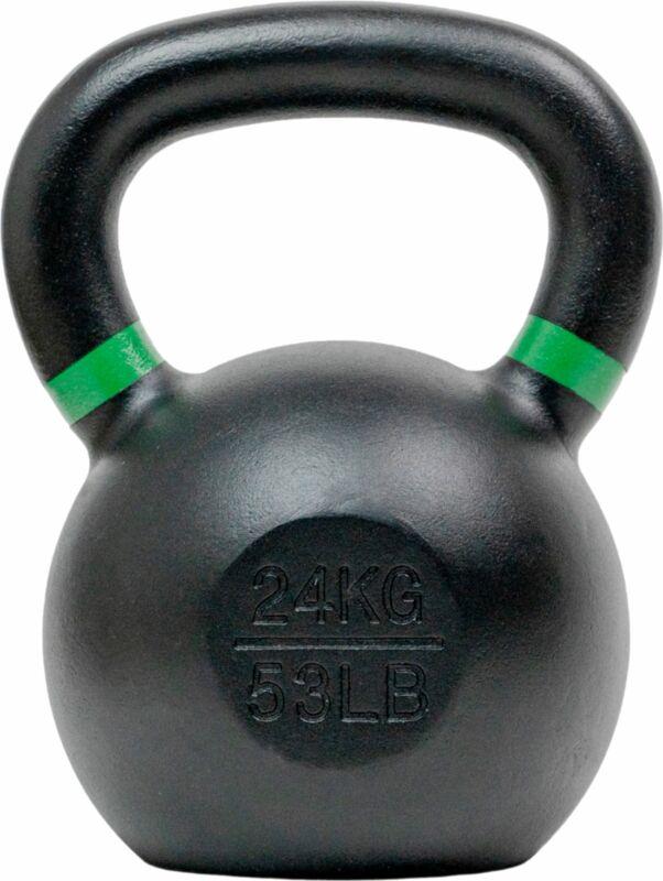 Tru Grit - 53-lb Cast Iron Kettlebell - Black