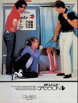 1983 SASSON OO LA LA!  : Photos Cab , Magazine Print AD