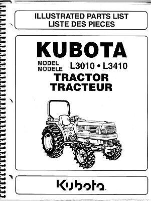 Kubota L3010 L3410 Tractor Illustrated Parts Manual 97898-22000