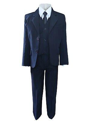 Festlicher Jungen Anzug 5tlg. dunkelblau Kinderanzug Kommunionanzug Hochzeit
