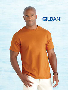 New-Gildan-Mens-Ultra-100-Cotton-Plain-Blank-T-shirt-In-A-Variety-Of-Colours