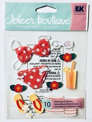 Jolee's Beach Bikini Summer Vacation Dimensional Scrapbook Stickers