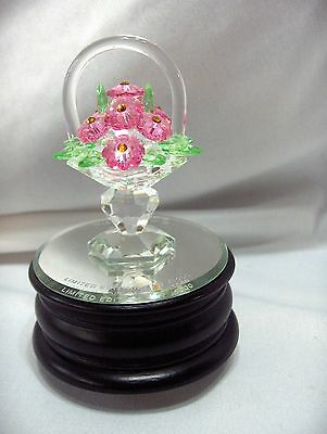 Vintage Iris Arc Crystal San Francisco Music Box Co Flower Basket Ltd Ed. NICE Arc Music Box