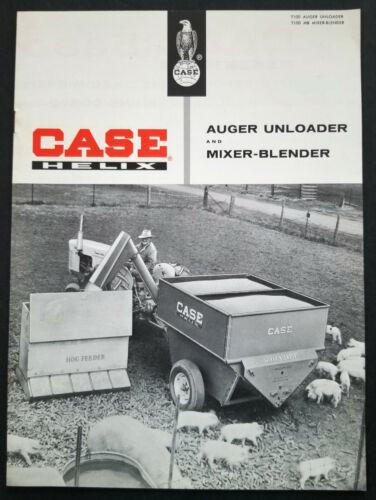 Case Farm Equipment Auger Unloader and Mixer Blender Dealer Sales Brochure