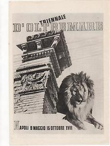 Pubblicita-vintage-NAPOLI-TRIENNALE-OLTREMARE-advert-reklame-werbung-publicite