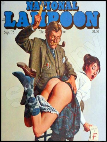 """National Lampoon Sept. 1975 Metal Sign 9"""" x 12"""""""